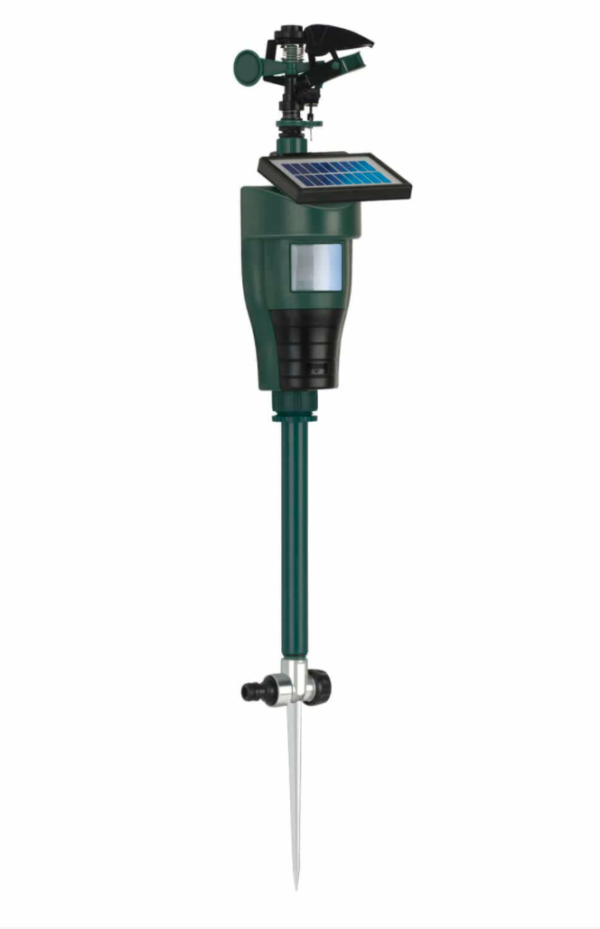Motion Activated Sprinkler showing metal Stake