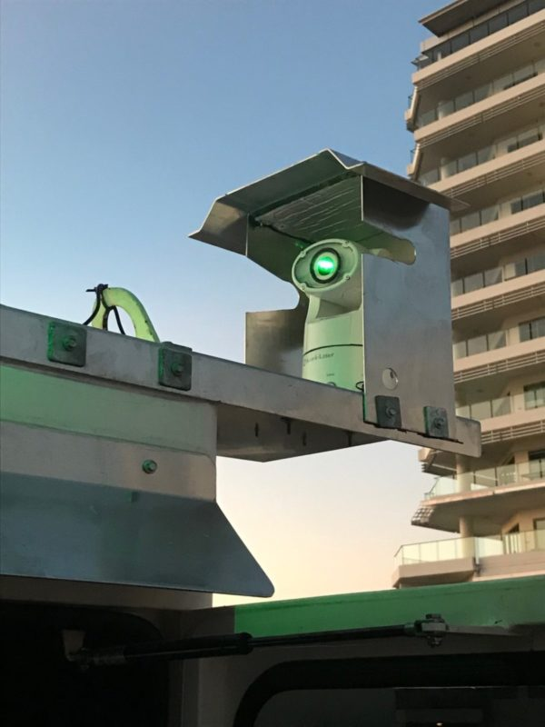 Hawk Laser on Crane with cover